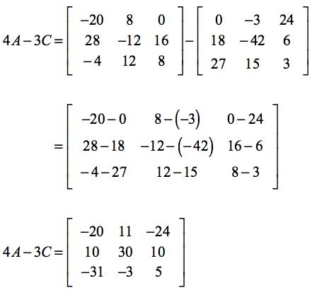 (4A)-3C = [-20,11,-24; 10,30,10; -31,-3, 5]