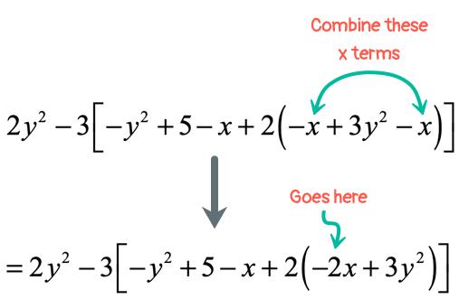 =2y^2-3[-y^2+5-x+2(-2x+3y^2)]