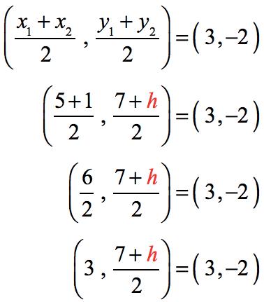 (3,(7+h)/2))=(3,-2)
