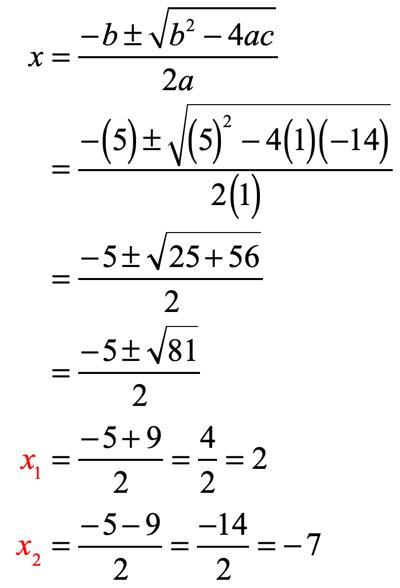 Solving Quadratic Equations by the Quadratic Formula - ChiliMath