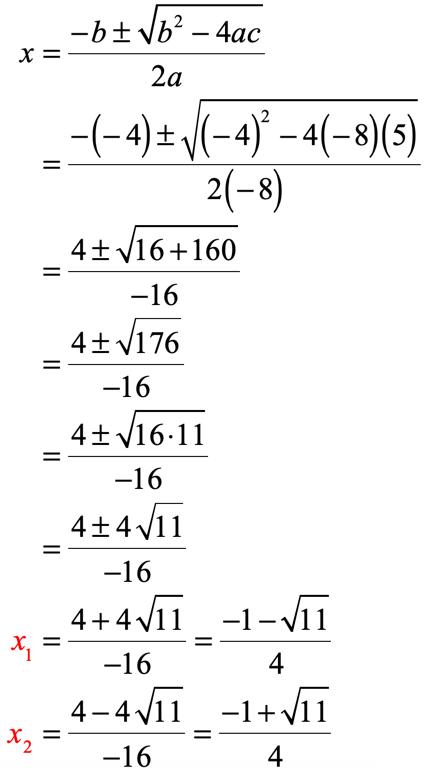 Solving Quadratic Equations by the Quadratic Formula ...