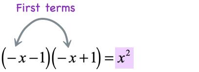 first times first = x^2