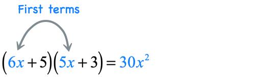 6x*5x = 30x^2