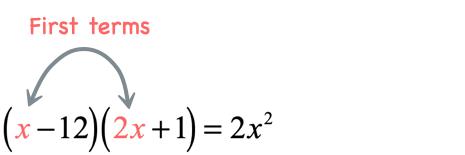 x times 2x = 2x^2