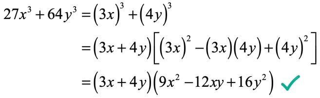 27x^3+64y^3=(3x+4y)(9x^2-12xy+16y^2)