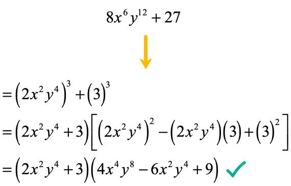 8x^6y^12+27=(2x^2y^4+3)(4x^4y^8-6x^2y^4+9)