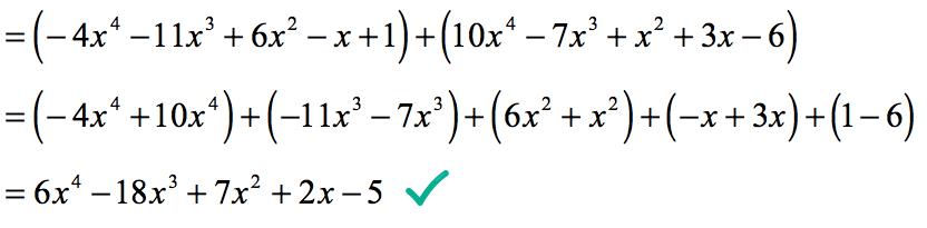 final answer is 6x^4-18x^3+7x^2+2x-5