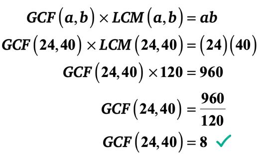 GCF(24,40) = 8