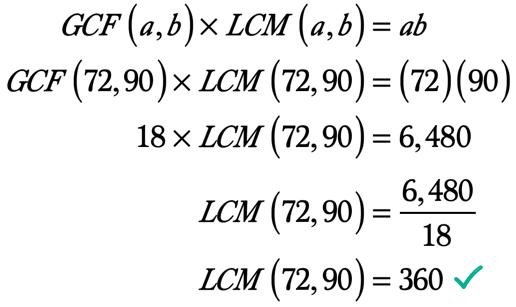 LCM(72,90) = 360
