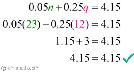 0.05(23)+0.25(12)=4.15