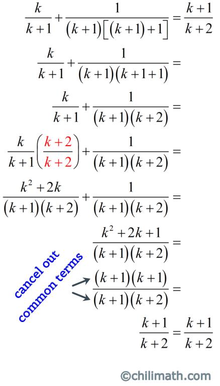 (k+1)/(k+2)=(k+1)/(k+2)