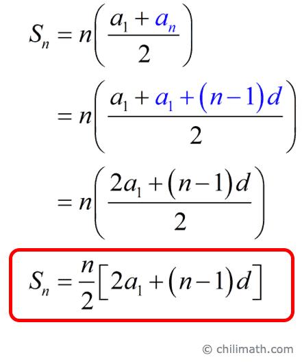 Sn=n/2[2a1+(n-1)d]