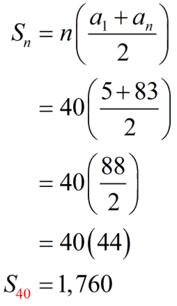 S sub 40 equals 1760